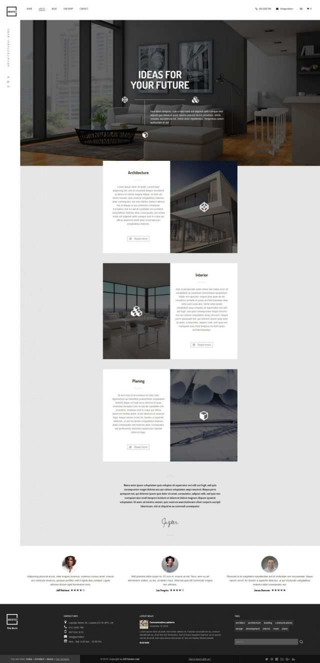 Architect Service Page